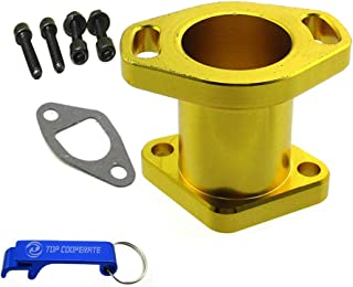 TC-Motor Gold Racing Performance Intake Pipe Inlet Manifold Gasket Screw Bolts For Predator 212cc For Honda GX200 For 6.5HP Chinese OHV Engines For Chinese 196cc Clone Engines Mini Bike Go Kart
