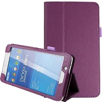 Samsung Galaxy Tab 4 7.0,7-Inch Case,Tab 4 7.0 Case,Samsung Tablet Case 7 inch,Ultra Slim Folding PU Leather Stand Case Cover for Samsung Galaxy Tab 4 7 7.0  Tablet SM-T230 SM-T231 SM-235,Purple