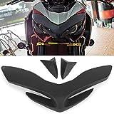 Cubierta de faro delantero de motocicleta, accesorios protectores de decoración de nariz de faro delantero para Kaw-asaki Z900 2017 2018 2019(negro)