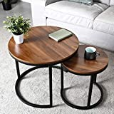 amzdeal Coffee Table for Living Room, Set of 2 Nesting Side Coffee Tables,...