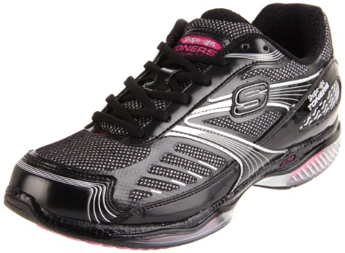 Skechers Ultra Fit Shape Ups Toners - Zapatillas de Deporte para Mujer, Color Negro, Talla 36