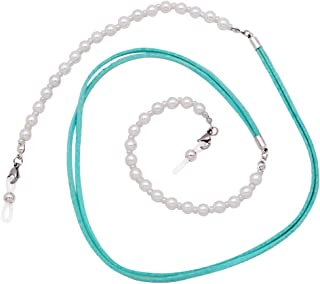 KAI Top Eyeglass Chain Beaded Pearl Reading Glass Sunglass Neck Strap Holder