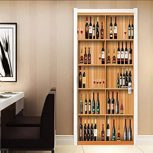 vinoteca madera pared de la marca BHLTG