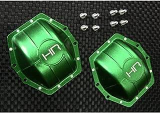 Hot Racing WRA12C05 Aluminum Ar60 Axle Diff Covers (Green) - Axial Yeti Wraith A