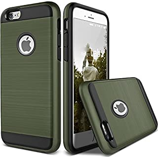 For Apple iPhone X 8 7 6S 6 iphone8 Plus Case Shockproof Protective Armor Cover (Army Green, iPhone 7 Plus)