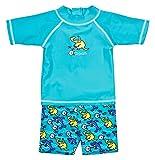 Landora® Baby- / Kleinkinder-Badebekleidung, 2er Set mit UV-Schutz 50+ und Oeko-Tex 100 Zertifizierung in türkis; Größe 74/80,