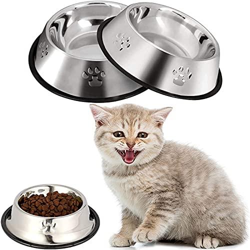 Ciotola per il cibo,3 Pezzi Ciotole per Piccoli Animali,Ciotole Per Cani in Acciaio Inossidabile,Bowl Ciotola per Alimenti per Cani,Ciotola Per Cani Con Base in Gomma Antiscivolo,per gatti,cuccioli