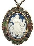 Arc International Guardian Angel 2 3/8 Inch Antique Style Cameo Pendant