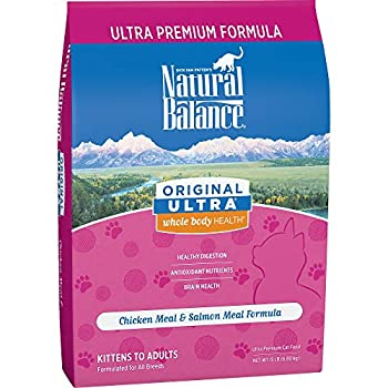 Natural Balance Original Ultra Whole Body Health Dry Cat Food Chicken Meal & Salmon Meal Formula 15 Pounds
