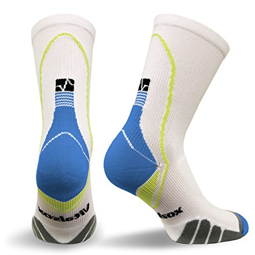Vitalsox VT5810 Italian Support & Odor Control Crew Socks (1 pair- fitted) Best For Running,...