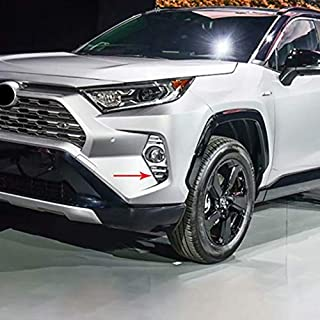Kadore for 2019 Toyota RAV4 LE XLE and Hybrid Chrome Fog Lights Cover Trim Front Side 2-pc