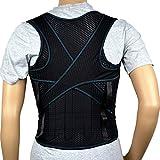 eeddoo® RÜCKENSTÜTZGÜRTEL Rücken-Gurt - Rückenbandage für Frauen & Männer - medizinische Rückenstütze zur Schmerzlinderung mit Klettverschluss - für Damen & Herren -