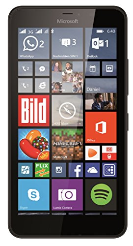 Microsoft Lumia 640 XL Dual-SIM Smartphone (5,7 Zoll (14,5 cm) Touch-Display, 8 GB Speicher, Windows 10) schwarz