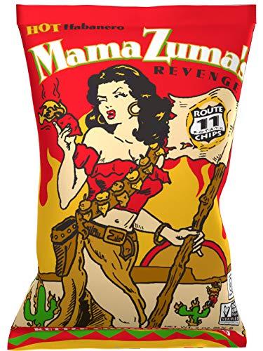 Route 11 Mama Zuma's Revenge All Natural Habanero Potato Chips 2oz Bag (Pack of 6)