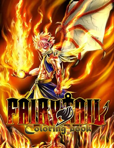 Fairy Tail Libro para colorear: Gifs para los niños a relajarse, libro para...
