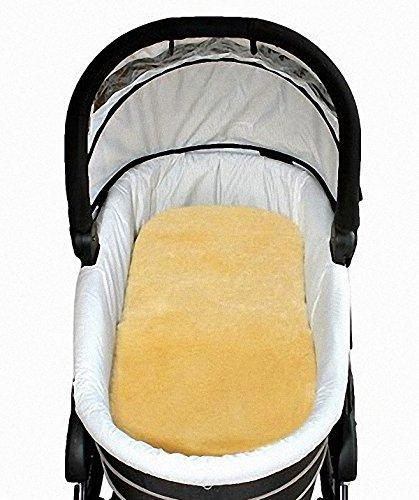 HEITMANN Baby Lammfell Einlagen 30 mm geschoren für Tragetasche, Kinderwagen, Kinderbett, ca. 73x33 cm, waschbar
