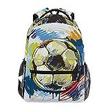 Pintar Fútbol Mochila Escolar Impermeable Mochilas Escolares para Estudiante Adolescentes Niñas Niños