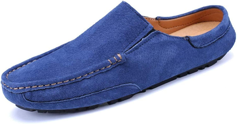 EGS-schuhe Herren Slip No Heel Lazy Peas Peas Schuhe Sandalen Breathable Baotou Half Slipper,Grille Schuhe (Farbe   Blau, Größe   44)  hohe Qualität echt