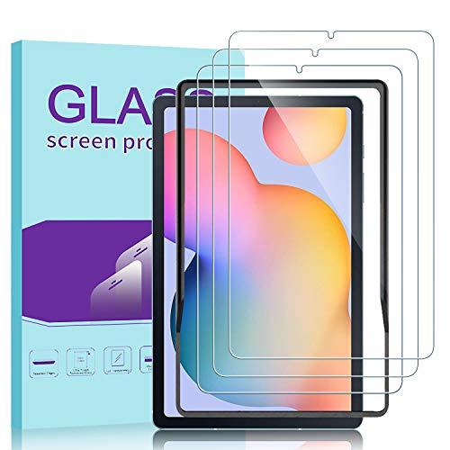 Janmitta für Samsung Galaxy Tab S6 Lite Panzerglas Schutzfolie [3-Stück], 2.5D Panzerfolie 9H Gehärtetem Glass [Anti-Kratzen][Anti-Bläschen] HD Displayschutzfolie mit Samsung Galaxy Tab S6 Lite