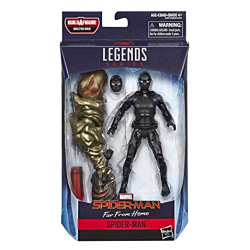 Marvel Legends - Figura de Spider-Man Stealth Suit Action, 15 cm, Inspirado en Spider-Man: Far from Home - Build-a-Figure Molten Man