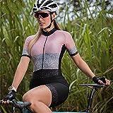 Combinaison de triathlon Combinaison de cyclisme pour femme Combinaison pour hommes et femmes Maillot de course à vélo Maillot de bain Pro Sportswear (Color : White, Size : Large)