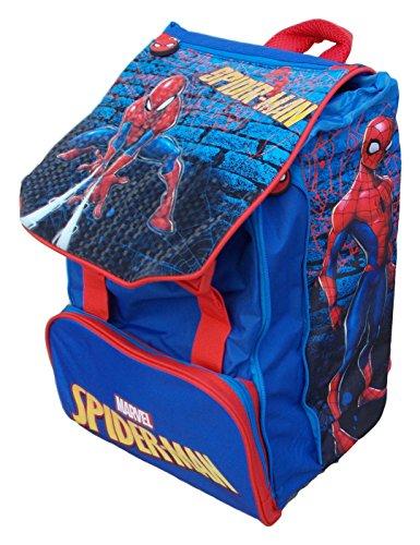 Zaino marvel spiderman blu rosso scuola bambini