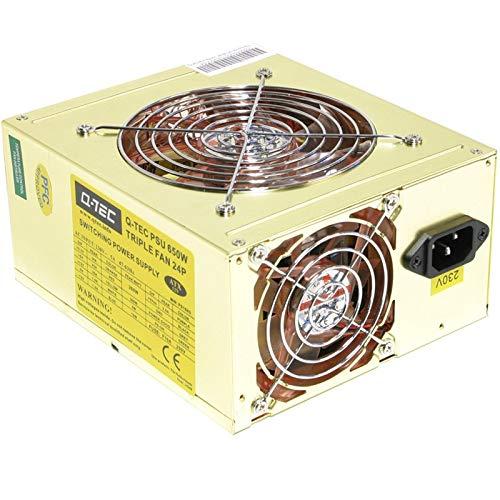 Q-Tec Alimentazione PC ATX Triple Fan 24P ps158g 650W Power Supply