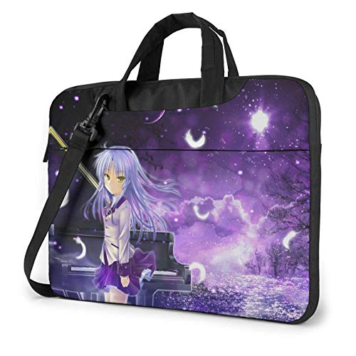 15.6 inch Laptop Shoulder Briefcase Messenger Angel Beat Kanade Tachibana Tablet Bussiness Carrying Handbag Case Sleeve