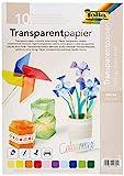 folia 87409 - Transparentpapier, farbig sortiert, DIN A4, 10 Blatt, 115 g/qm - ideal zum Basteln,...