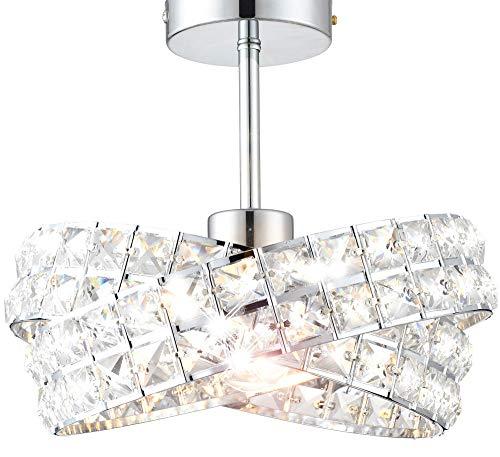 design vetro cristallo design classico lampadario sospensione plafoniera soffitto Ø 30cm 1xE27