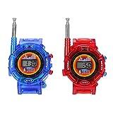Alloet 2pcs Novelty 7in1 Kids Watch Walkie-Talkie Intercom Outdoor Interphone Toys