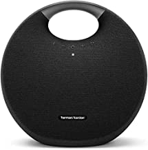 Harman Kardon Onyx Studio 6 Wireless Bluetooth Speaker - IPX7 Waterproof Extra Bass Sound System with Rechargeable Battery and Built-in Microphone - Black (Renewed)