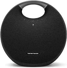 Harman Kardon Onyx Studio 6 - IPX7 Waterproof Wireless Bluetooth Speaker System w/Rechargeable Battery, Built-in Microphone (Black) (Renewed)