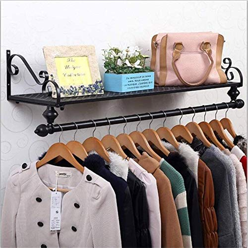 MGE 120cm 4 Sizes Iron Coat And Hat Rack Hangers Wall Hanging Clothing Store Bedroom