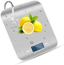 Balance Cuisine Electronique Precision 0,001 kg -Avec Ecran LED Clair, Surface en Acier Inoxydable Etanche et Facile à Net...