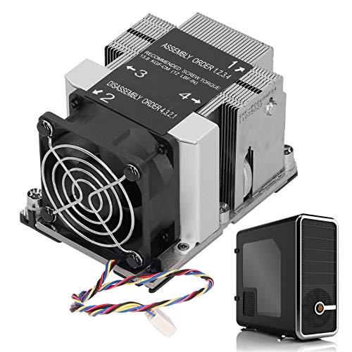 Jiawu Disipador de Calor para Plataforma Purley, disipador de Calor de Enfriador de Torre para procesador escalable para LGA 3647-0