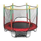 Niños Saltando Cama Redondo Mini trampolín gabinete Red Pad Almohadilla Ejercicio al Aire Libre Home Toys Hop sofá Soporte 200 kg (Color : A)