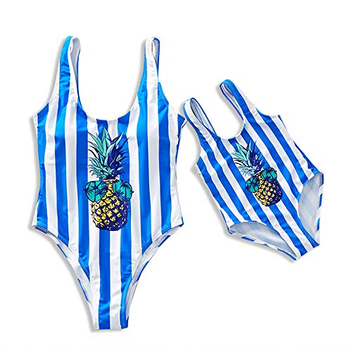 Yaffi Familie Bijpassende Badpak 2019 Nieuwste Ananas Gedrukt Gestreepte Monokini Een Stuk Badpak Beach Wear
