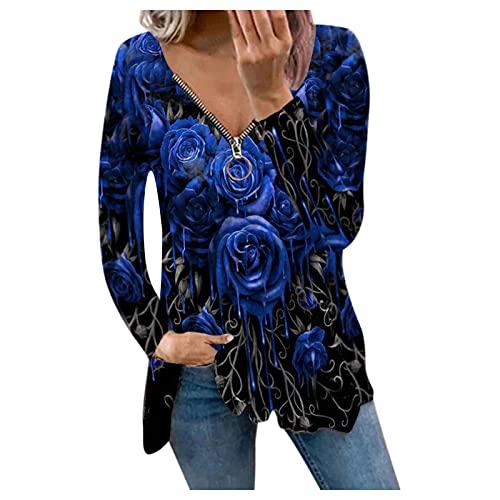 HHOP schwarzes Oberteil Damen grössentabelle Damen seidenblusen für Damen lose blusen Bluse Royalblau ausgefallene Tunika Hose grün Damen Sweatjacke Damen ohne Kapuze Herbst