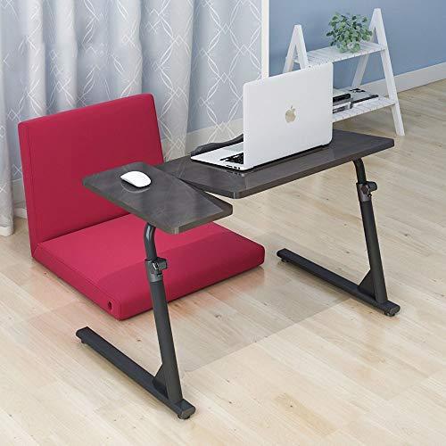 KTDZ Computerschreibtisch, Mesa para Computadora PortáTil El Hogar, Mesa Perezosa para Cama Escritorio De ElevacióN Plegable Mesa De Centro para Dormitorio con Bandeja para Mouse