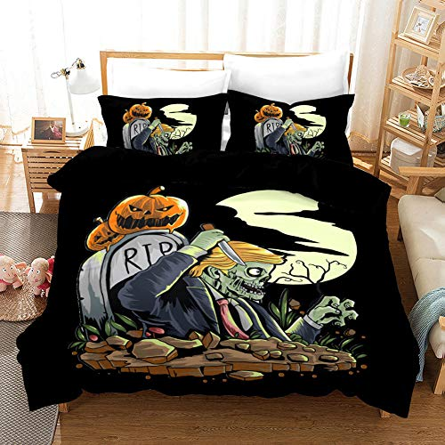 geek cook Superking duvets sets,3D Halloween Foreign Trade Quilt Cover Home Textile Three-piece Bedding Children Student Bedding-WSJ1_US259/229 three-piece suit