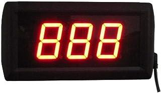 Fitness träningstimer 3-siffrig LED sekunder nedräkningstimer stöder upp till 999 sekunder, nedräkning eller räkning väggm...