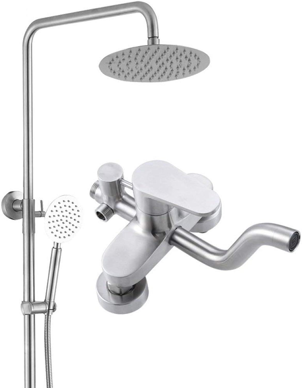 Badezimmer Dusche Systeme, an der Wand angebrachte Edelstahl Regendusche, verstellbare Niederschlag Wasserfalldusche