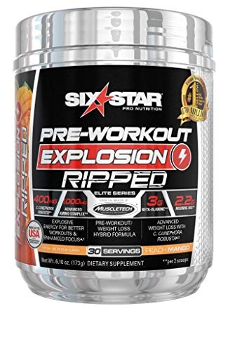 Six Star Explosion Ripped Pre Workout