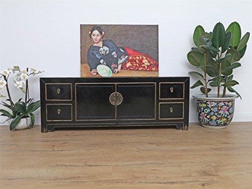 chinesisches Sideboard Massivholz Fernsehtisch Kommode 150x55x40 DJ1803