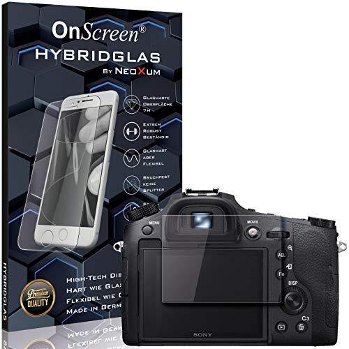 OnScreen Schutzfolie Panzerglas kompatibel mit Sony Cybershot DSC-RX10 IV Panzer-Glas-Folie = biegsames HYBRIDGLAS, Bildschirmschutzfolie, splitterfrei, MATT, Anti-Reflex - entspiegelnd
