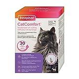 BEAPHAR – CATCOMFORT - Diffuseur électrique de phéromones pour chat – Réduit le stress et les problèmes comportementaux sans dépendance ni somnolence – Prêt à l'emploi - 1 prise + 1 recharge