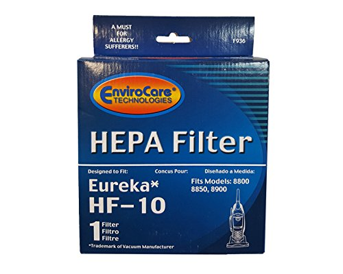 (1) Eureka Hf-10 Pleated Hepa Filter W/activated Charcoal Vacuum Filter, Upright, Boss Capture, Pet Lover Vacuum cleaners, 63347A, 633489, 67810-2, H14017, 63358