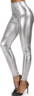 Alsol Lamesa Women's Wet Look Shiny Metallic Stretch Leggings