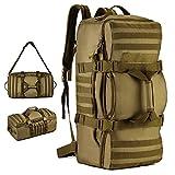 YuHan - Mochila táctica, 60 L, para senderismo, mochila militar con sistema modular de carga y transporte de equipamiento ligero (MOLLE), verde